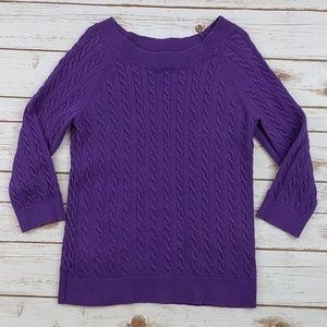 Ann Taylor Loft purple sweater